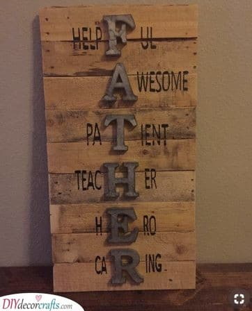Spell it Out - Retirement Gifts for Dad