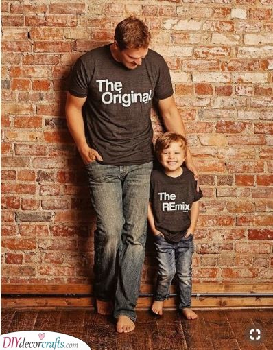Matching T-Shirts - Retirement Gifts for Dad