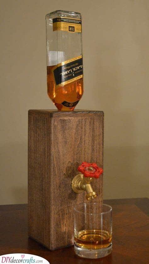 A Wooden Liquor Decanter - Creative With Booze