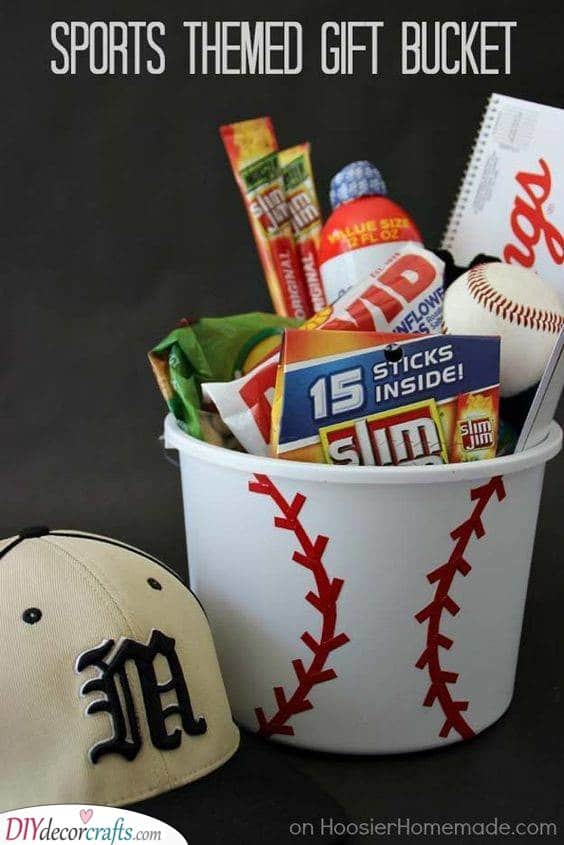 Crazy About Sports - A Gift Bucket