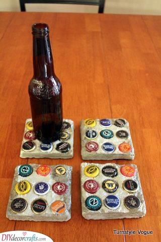 Bottle Coasters - Using Bottle Caps