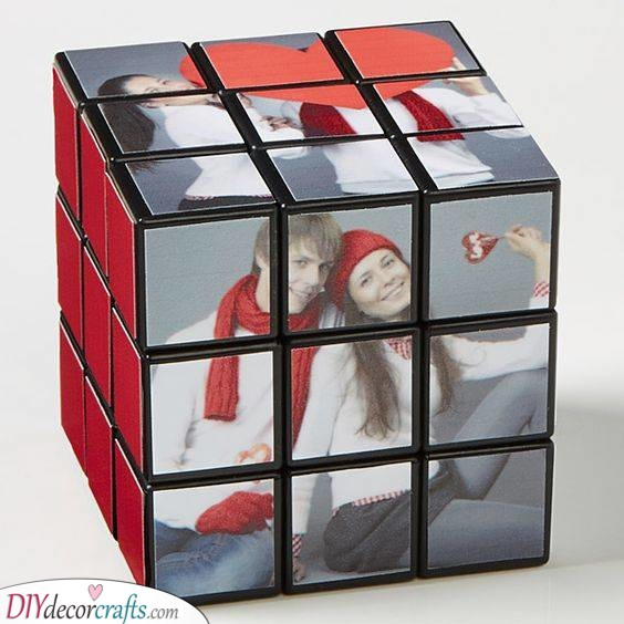 A Personalised Rubik's Cube - Gorgeous Gift Ideas for Men