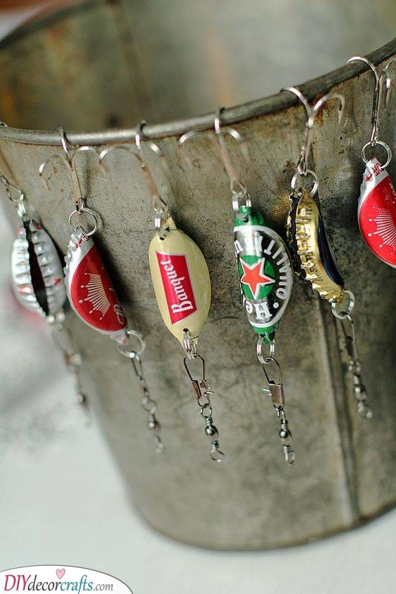 Bottle Cap Keychains - Great Gift Ideas for Men