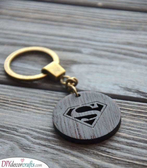 Keychain for a Hero - Superman Inspired