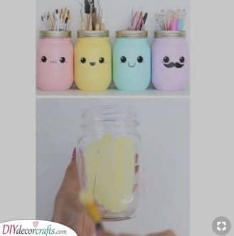 Pencil Holders - Mason Jar Ideas