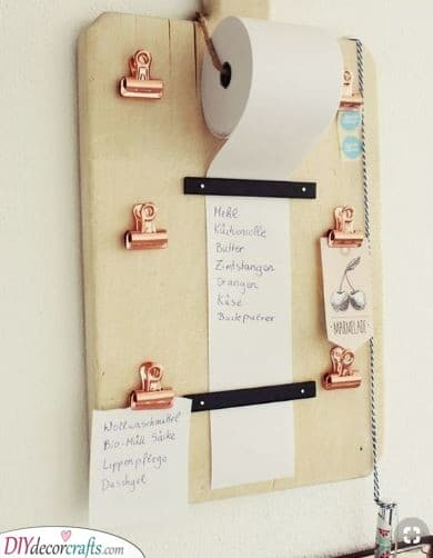 Creative Grocery List - Using Toilet Paper