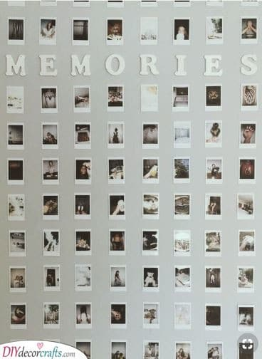 A Poster of Memories - A Collection of Polaroids