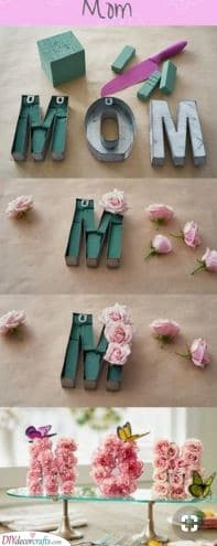 Floral Letters - Beautiful Gift Ideas for Mom