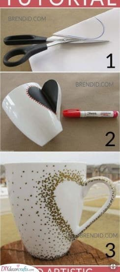 A Heart Mug - Easy Gift Ideas for Moms