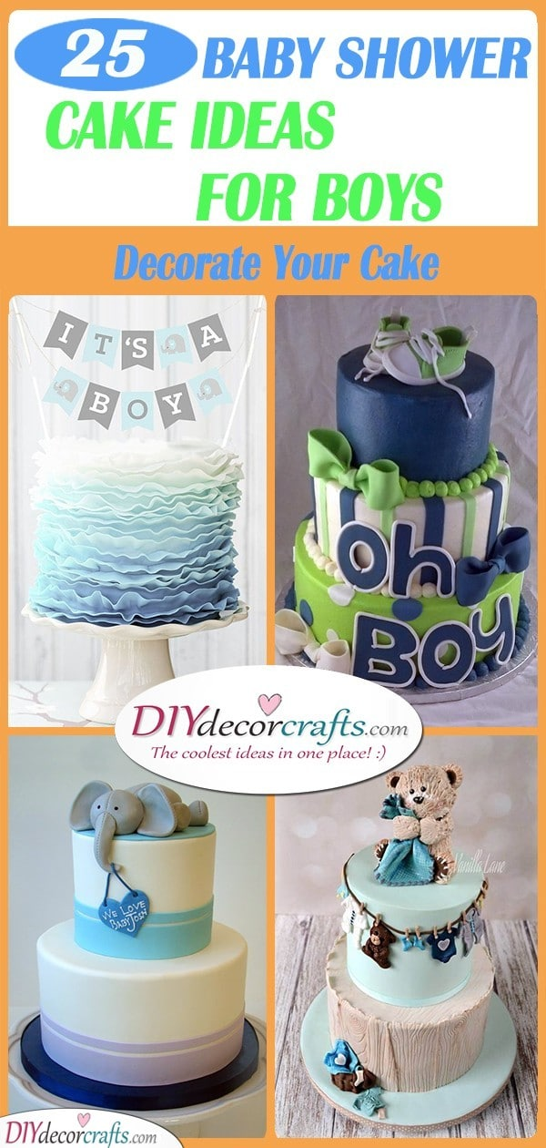 25 BABY SHOWER CAKE IDEAS FOR BOYS - Inspiration for Baby Showers