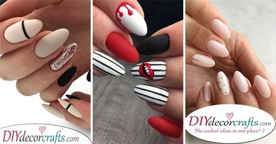 40 BEAUTIFUL ALMOND SHAPED NAILS - The Best Nail Designs for Almond Nails