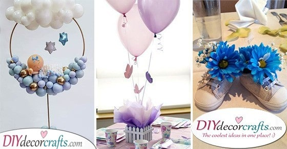 30 BABY SHOWER TABLE CENTREPIECES - Table Decor Ideas for Baby Showers