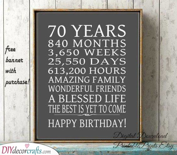 Seventy Years - Is Equivalent to