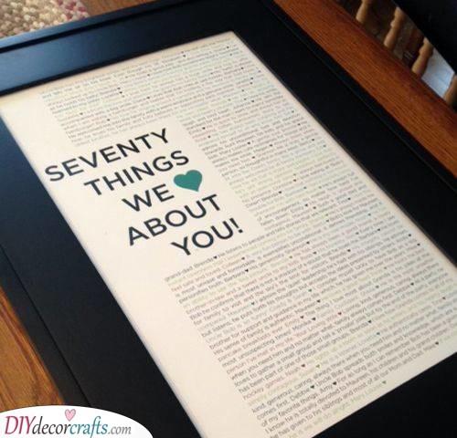 Seventy Reasons - Why Everyone Loves Them