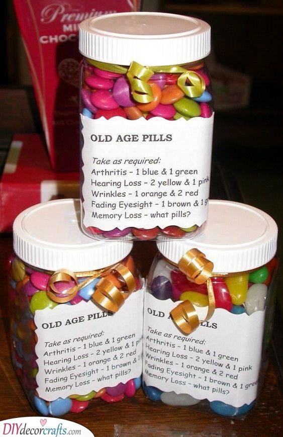 Old Age Pills - Funny 70th Birthday Present Ideas