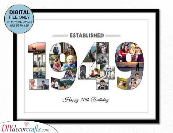 Established In - Beautiful 70th Birthday Gift Ideas