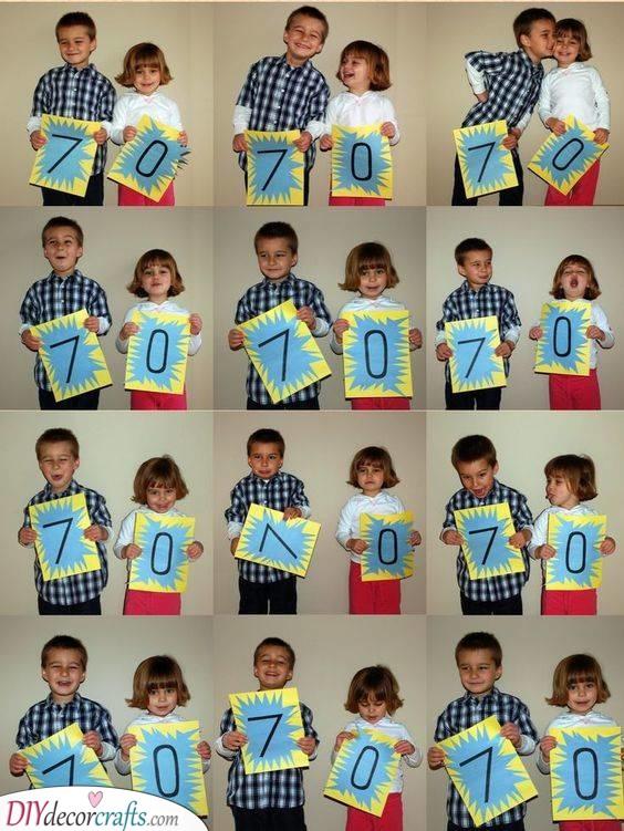 An Adorable Photo Series - 70th Birthday Present Ideas