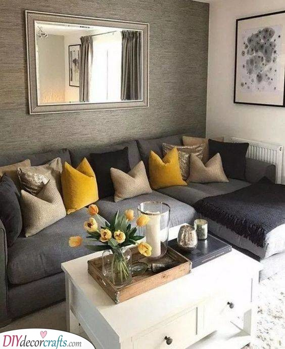 Grey and Yellow - Quirky and Cute