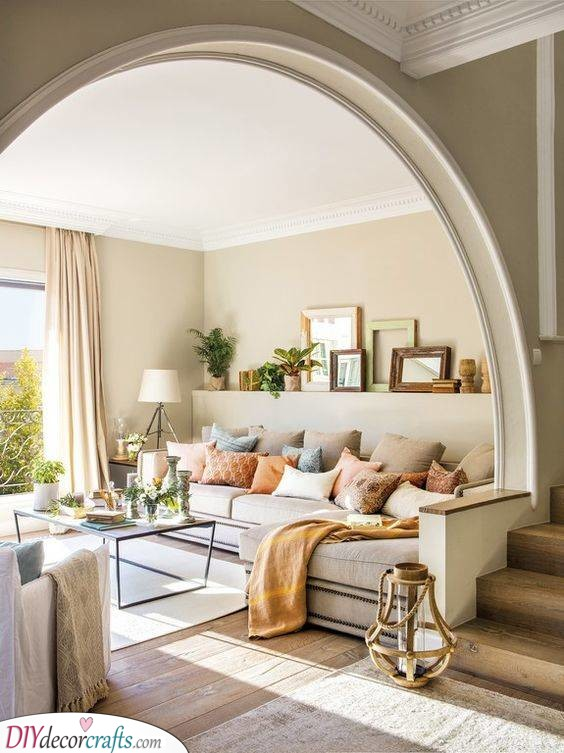 A Stunning Living Room - Using Warm Colours