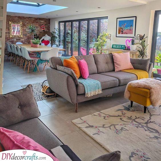 Adding Colour - Groovy Apartment Living Room Ideas