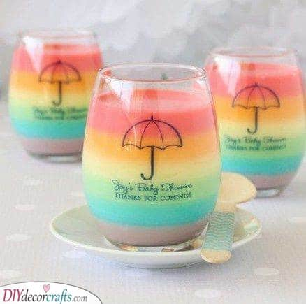 Cups of Rainbows - For Rainbow Themed Baby Showers