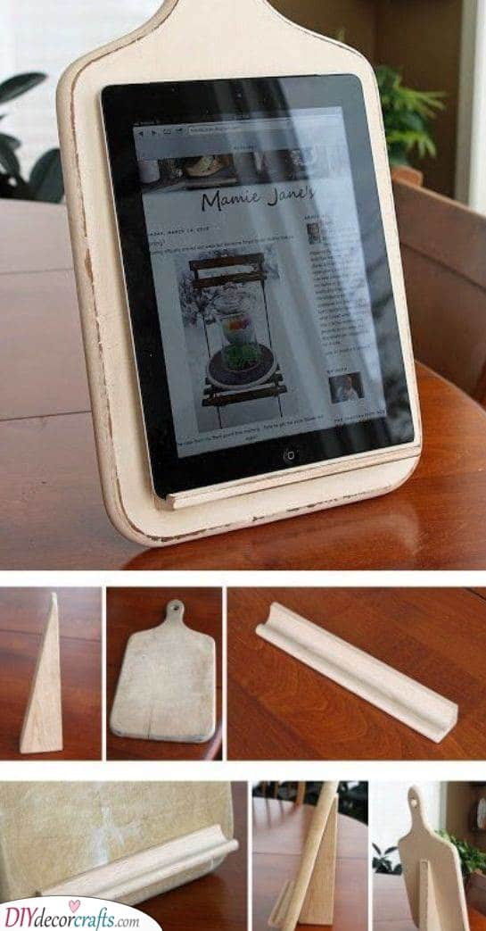 Handmade Tablet Holder - Birthday Present Ideas for Wife