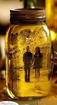 Photo in a Jar - Romantic Birthday Gift for Wife