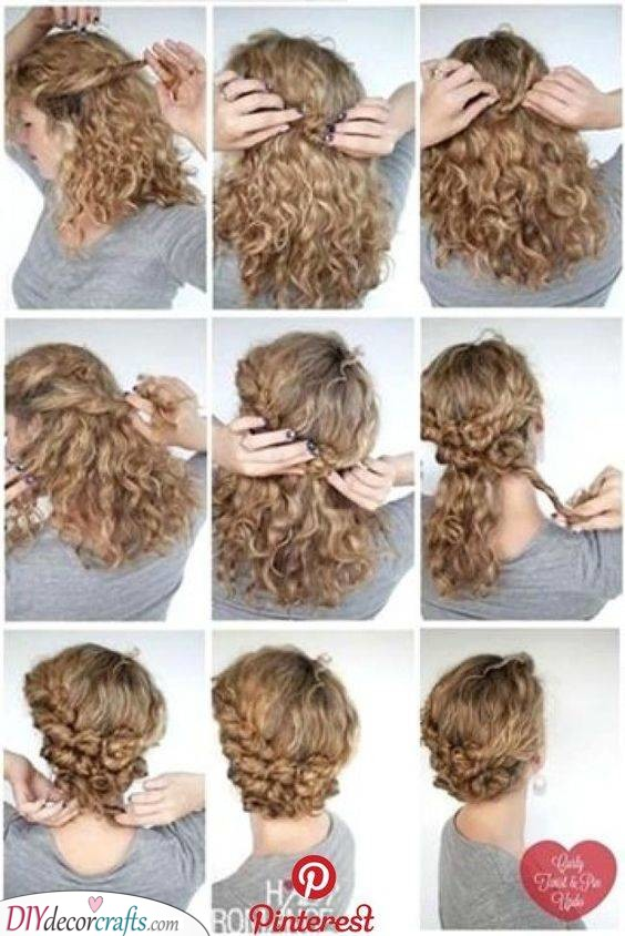 Twisting and Pinning - Hairstyles for Girls with Curly Hair
