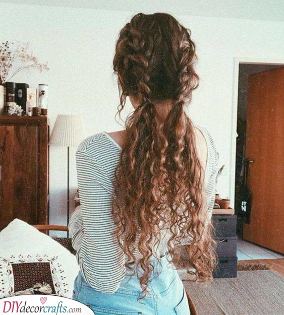 Two Adorable Half Braids - Hairstyles for Curly Hair Women