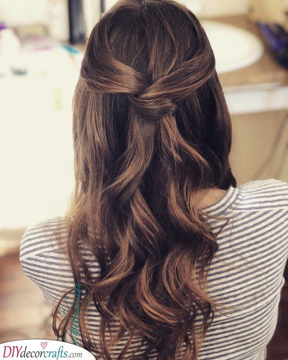 A Simple Twist - Half Up and Half Down
