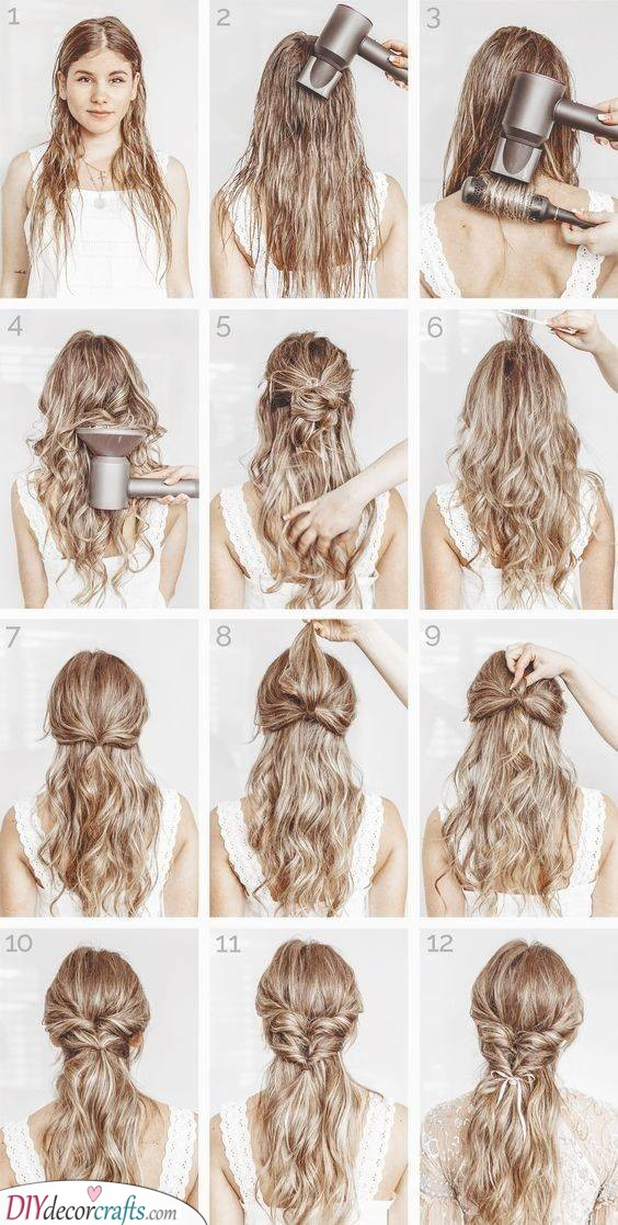 Intricate Hairdo for Curly Hair - Glamorous and Lovely