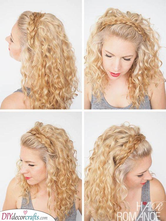 A Bohemian Look - Braided on Top