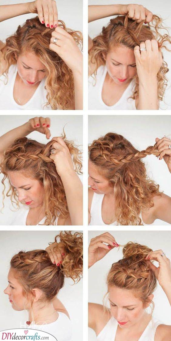 A Gorgeous Updo - With a Braid