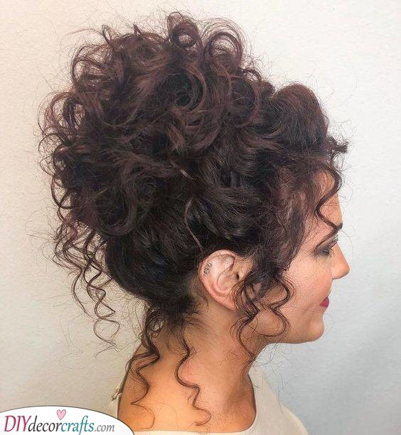 A Fabulous Updo - Great Hairstyles for Curly Hair Women