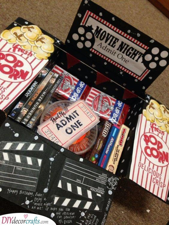 Time for a Movie - An Array of Snacks