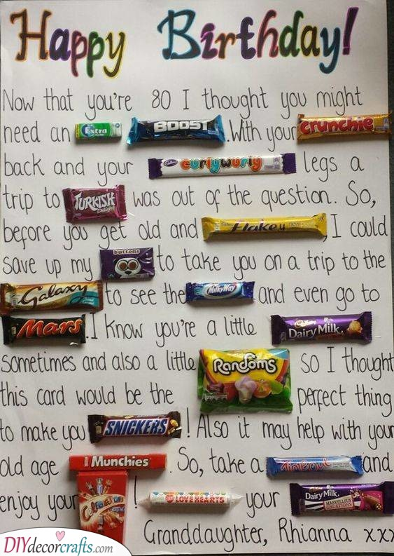 A Message in Candy - Wishing Him the Best