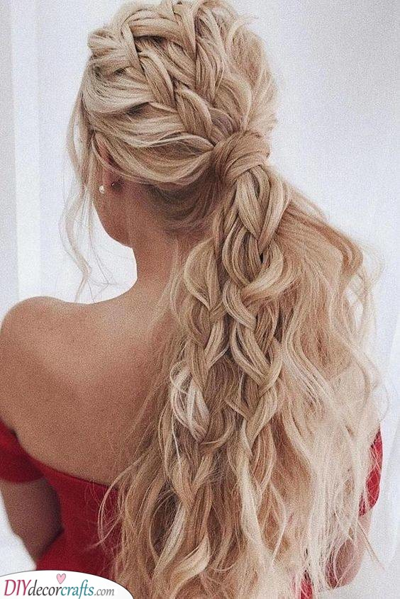Braid in Waves - Curly Hairstyles for Long Hair