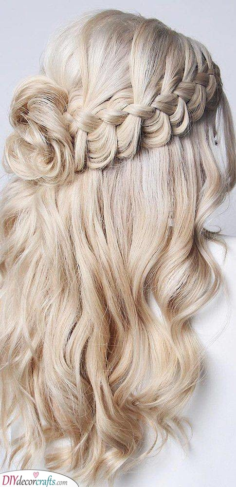A Braid and a Bun - Natural Curly Hairstyles for Long Hair