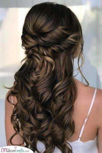 Half Up Half Down - Easy Hairstyles for Long Curly Hair