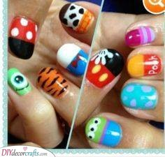 A Selection of Disney - The Best Nail Art for Kids