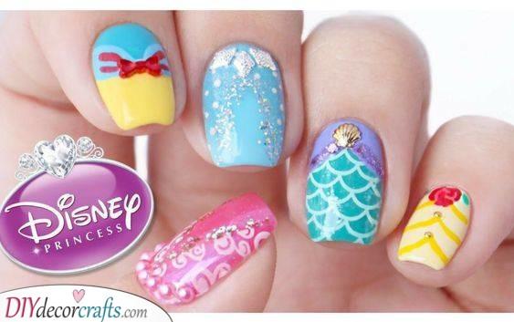 A Royal Look - Disney Princess Nail Ideas