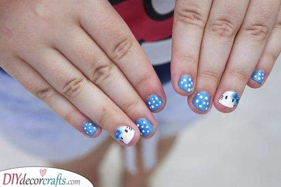 Adorable Hello Kitty - Cute Nails for Kids