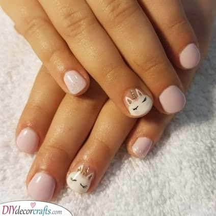 Simple and Stylish - Another Unicorn Nail Design