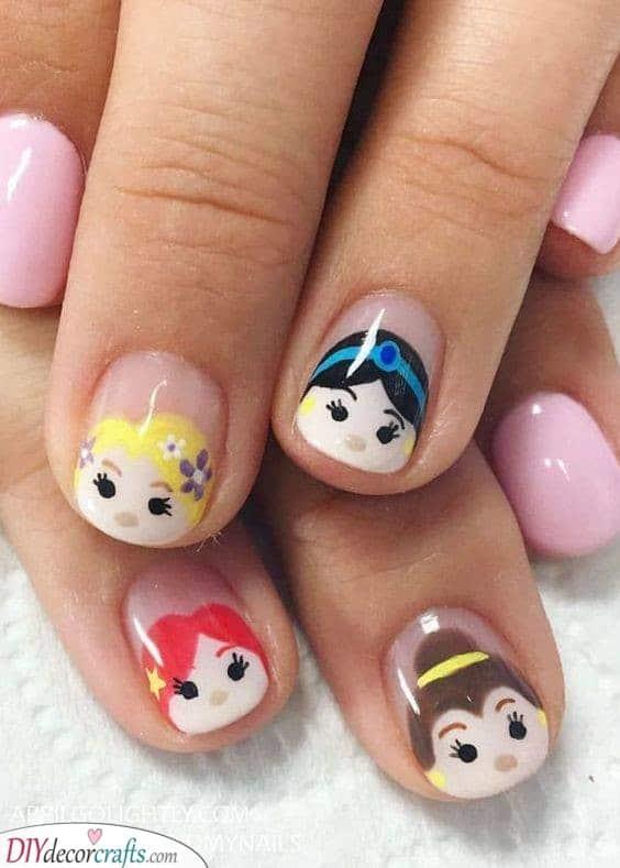 Disney Princess Ideas - Cute Nails for Kids