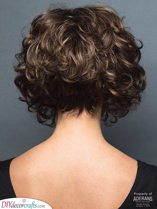 An A-Line Cut - Cute and Curly
