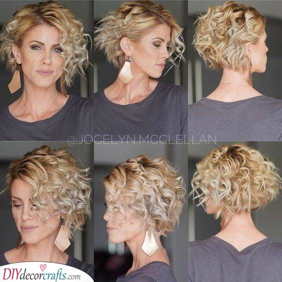 Add a Few Clips - Hairstyles for Short Curly Hair