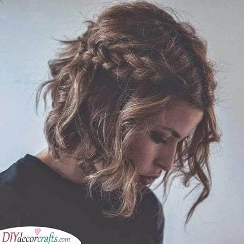 A Brilliant Braid - Hairstyles for Short Curly Hair