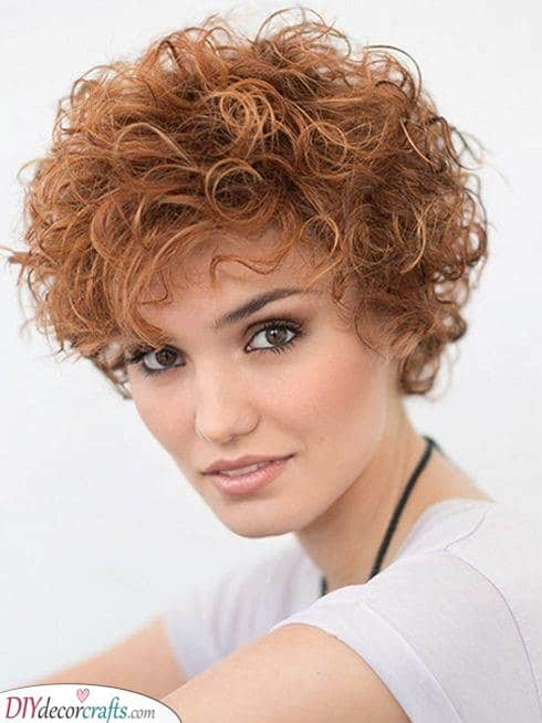 Ginger and Funky - Hairstyles for Short Curly Hair