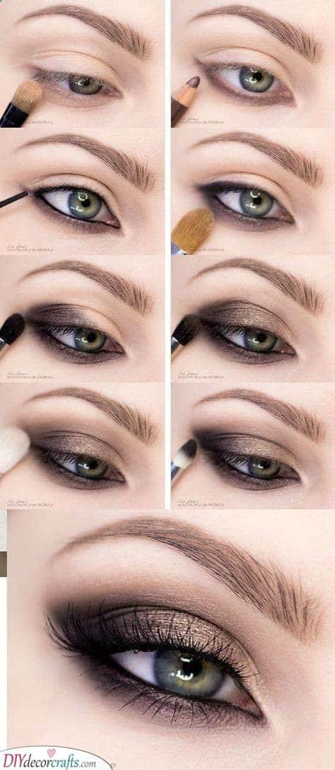 A Soft Glamour - Smokey Eye Makeup Ideas