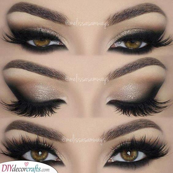 Dazzling and Glamorous - Bold Smokey Eye Makeup